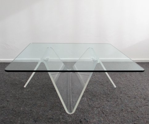 Sculptural Plexiglas Coffee Table, 1980's