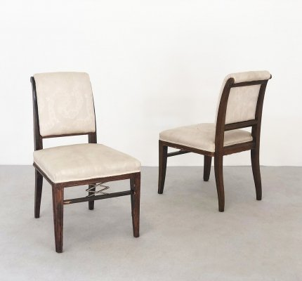 Pair of chairs by Jacques Émile Ruhlmann for Atelier J. E. Ruhlmann
