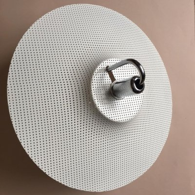 Vintage White Perforated Metal 'Zero' Ceiling Lamp by Lindau & Lindekrantz