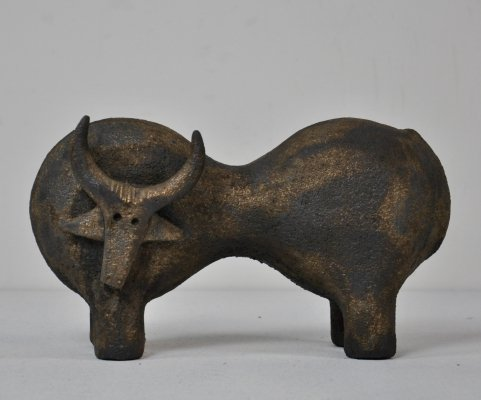 Ceramic Bull by Dominique Pouchain, 1990s