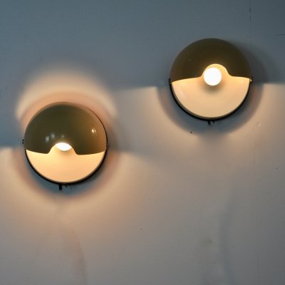 Pair of 'The Mezzanotte' wall lamps by iGuzzini, 1970s
