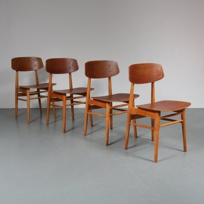 Set of 4 dining chairs by Børge Mogensen for Søborg Møbelfabrik, 1950s