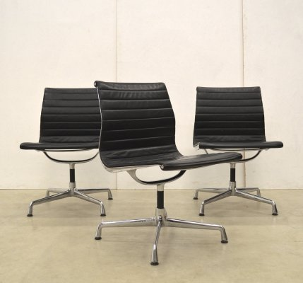 3 x EA105 office chair by Charles & Ray Eames for Vitra, 1980s