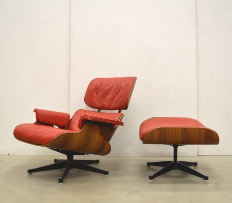 Herman Miller by Hille 1st European Edition Eames Lounge Chair & Ottoman