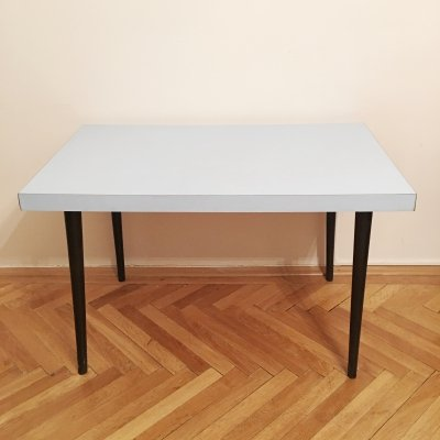 Laminated Blue Dining Table by Mier Topolcany, 1960s