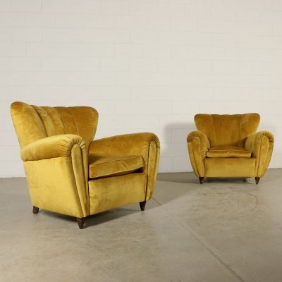 Pair of Armchairs, 1940s