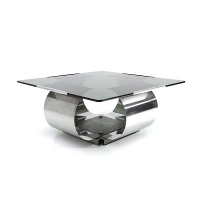 Italian coffee table by Francois Monnet for Kappa, 1970s