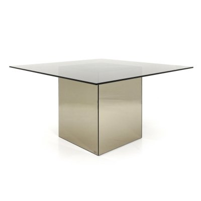 Square dining table Block by Nanda Vigo for Acerbis, 1970s