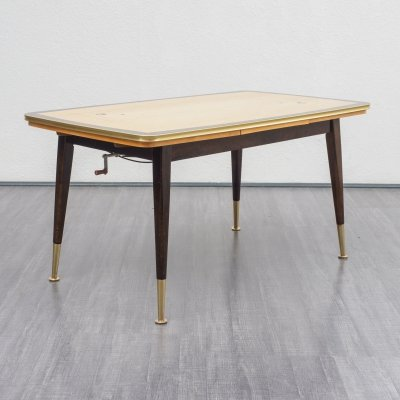Classic 1950s dining table / coffee table with graphic pattern