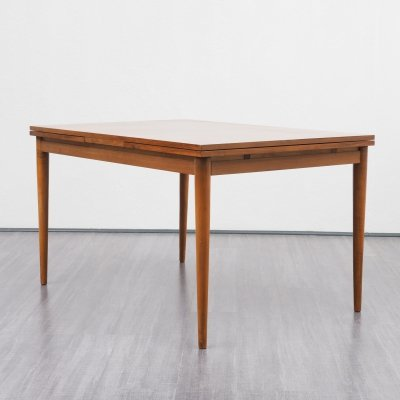 Extendable walnut dining table, 1960s