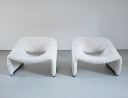 Pair of Groovy Chairs in Wool by Pierre Paulin for Artifort