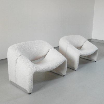 Pair of F598 Groovy chairs by Pierre Paulin for Artifort, The Netherlands