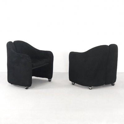 Pair of 'PS142' Armchairs By Eugenio Gerli For Tecno, 1960s