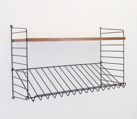 Vintage magazine rack/wall unit by Nisse Strinning