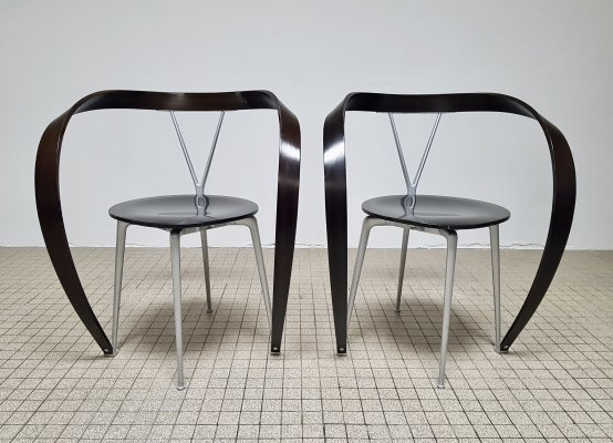 Vintage 'Revers' dining chairs by Andrea Branzi for Cassina, 1993