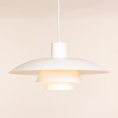 Vintage white Louis Poulsen PH 4/3 pendant lamp by Poul Henningsen
