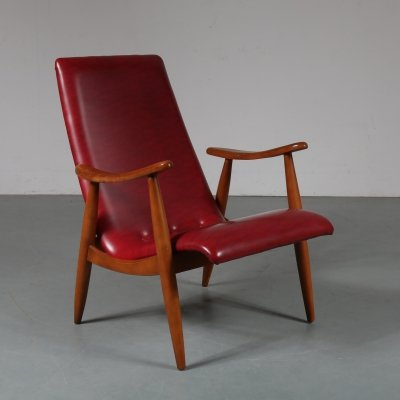 1950s Dutch lounge chair by Louis van Teeffelen for Wébé