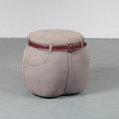 Pop-Art jeans stool, 1970s