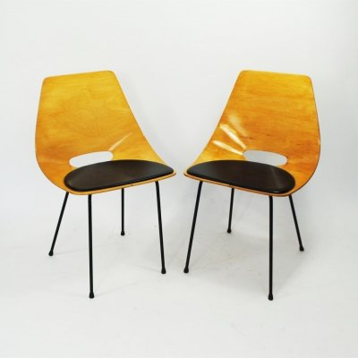 2 x Tonneau dining chair by Pierre Guariche for Steiner, 1950s