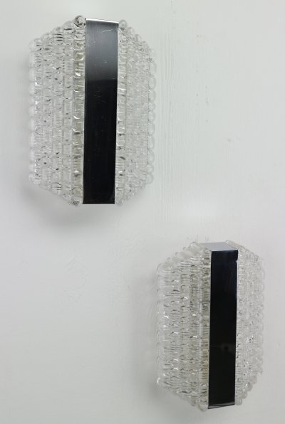 Set of 2 Home Wall Lights by Kaiser Leuchten, 1960s