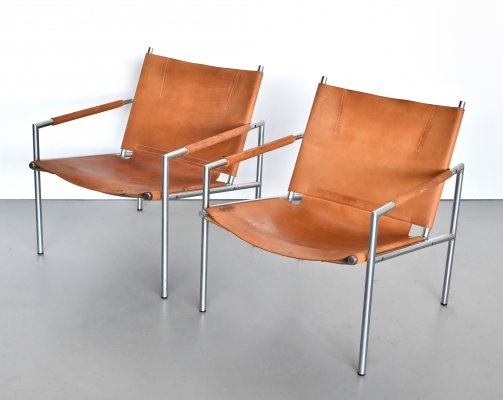 Pair of SZ02 lounge chairs by Martin Visser for Spectrum, 1970s