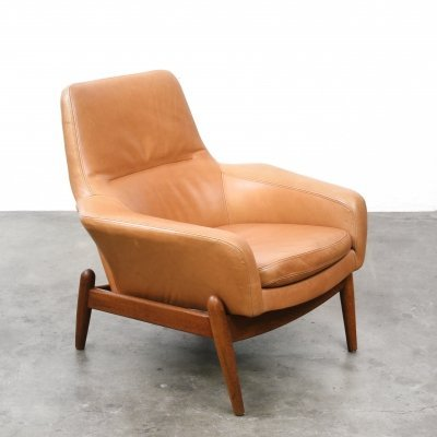 Low lounge chair by Arnold Madsen & Henry Schubell for Bovenkamp, 1960s