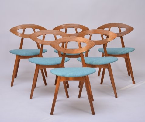 Set of 6 'Eye' Chairs by Ejvind A Johansson, 1961