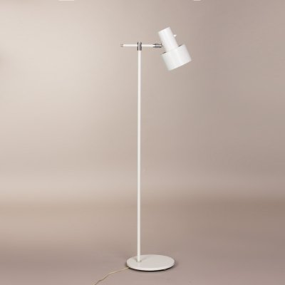 Vintage white Danish 'Junior' floorlamp by Jo Hammerborg for Fog & Morup