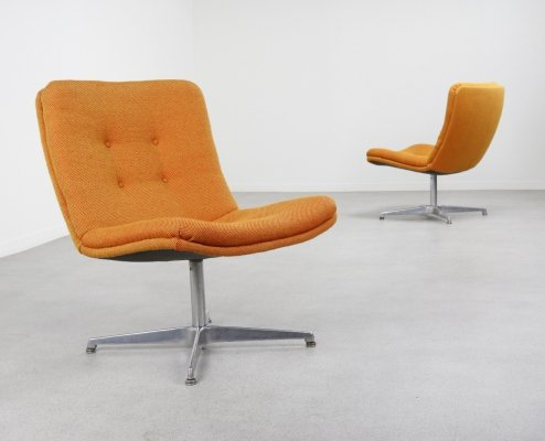 Pair of swivel lounge chairs by Geoffrey Harcourt for Artifort, 1960s