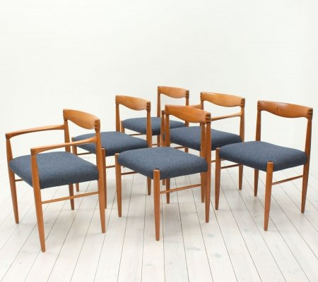 Set of 6 Danish Teak Dining Chairs by H. W. Klein for Bramin, 1960s