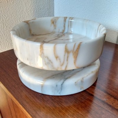 Marble bowl by Angelo Mangiarotti for Knoll, circa 1965