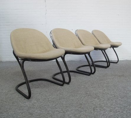 Set of 4 Pascale dining chairs by Gastone Rinaldi for Thema Italy, 1970s