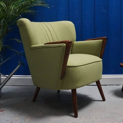 Mid Century Shell Chair in Green, 1960's