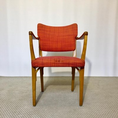 Mid-Century Swedish Beech Wood Armchair by Nordiska Kompaniet, 1950s