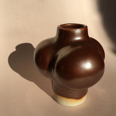 Vintage Danish Ceramic Vase by Tue Poulsen, 1970s