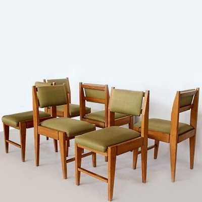Italian Midcentury set of dining chairs by Vittorio Dassi