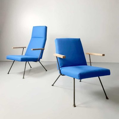 Pair of Vintage André Cordemeyer for Gispen armchairs, 1950s