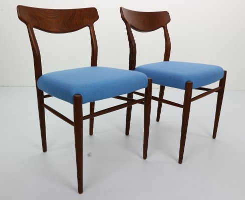 Set of 2 Harry Østergaard Teak Chairs, Denmark 1960s