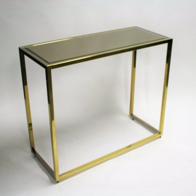 Brass & chrome console table, 1970s