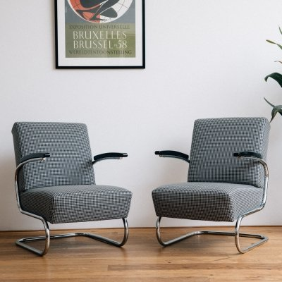 2 x S 411 arm chair by Thonet Design Team for Thonet, 1930s
