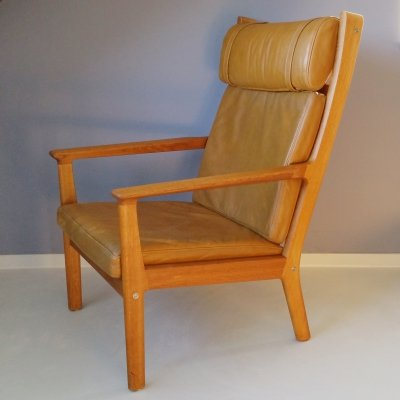 GE 265 Lounge Chair with Leather Upholstery by Hans Wegner for Getama, 1979