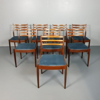 Set of 8 Vintage design dining chairs by Victor Wilkens for G plan