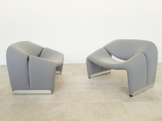Pair of Groovy chairs by Pierre Paulin for Artifort, 1970s