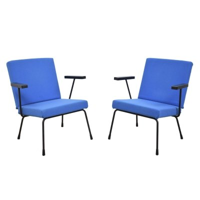 Pair of model 1401 arm chairs by Wim Rietveld for Gispen, 1960s