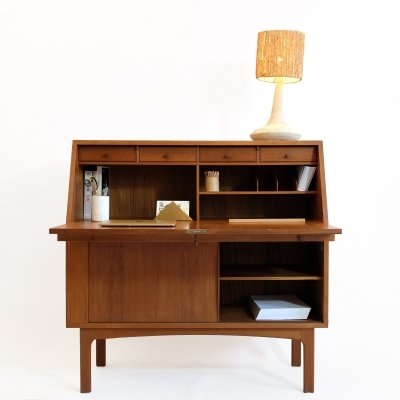 Clever Danish writing desk by Bernhard Pedersen & Son, 1960s