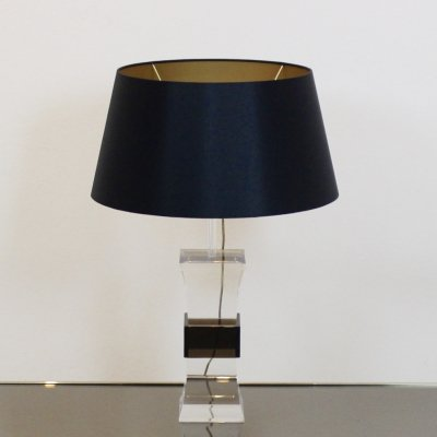 Mid-Century Modern two color Lucite Table Lamp, France 1970s
