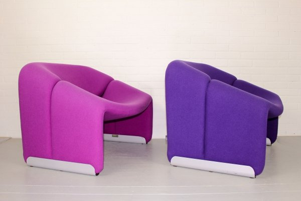 Set of 2 Pierre Paulin Groovy / F598 Easy Chairs for Artifort, 1972