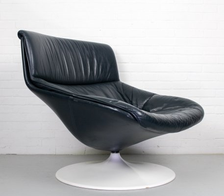 Artifort 'F522' swivel chair lounge chair by Geoffrey Harcourt, 1960s