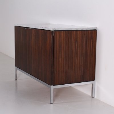 Rosewood & marble top sideboard by Florence Knoll
