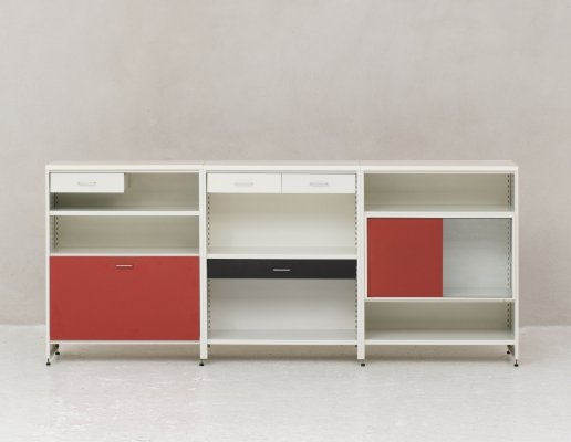 Colorful modular 'Model 5600' storage unit by Andre Cordemeijer for Gispen, 1959